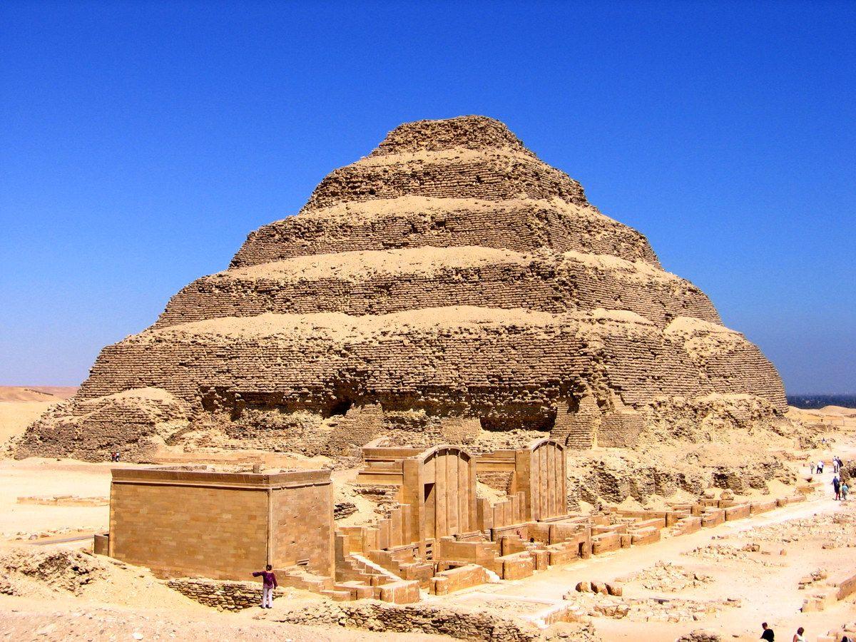 Stepped Pyramid of Djoser, Imhotep, Saqqara, Egypt, ca ...