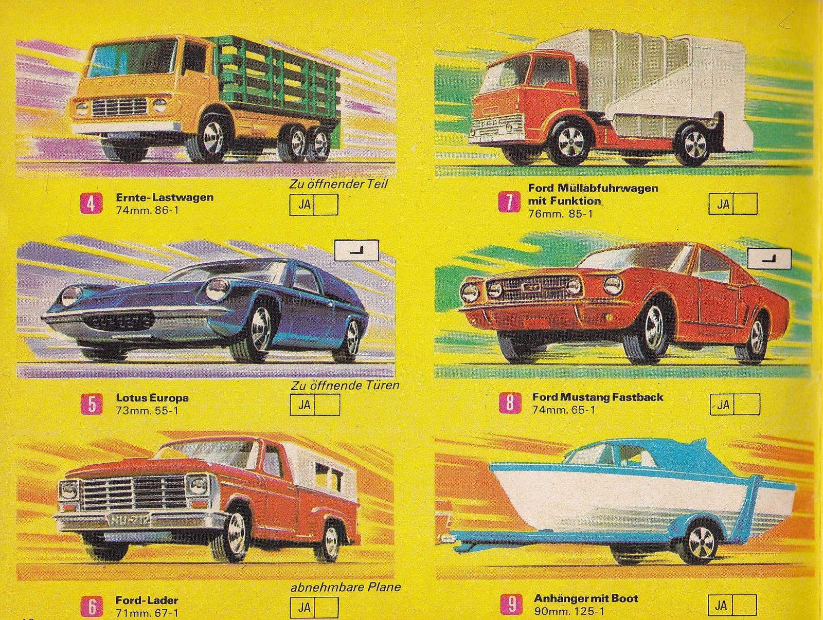 Matchbox Superfast Sammler Katalog 1970 Seite 18 Matchbox Corgi Toys Matchbox Cars