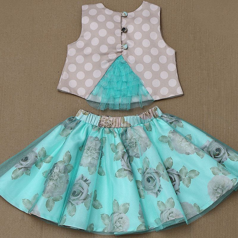 Rose Couture Birthday Skirt Top Set With Headband