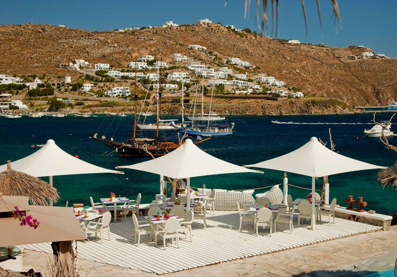 A #seaside #paradise of #Mediterranean #cuisine.  #restaurant #mykonosrestaurant #mykonoshotel #mykonos2014