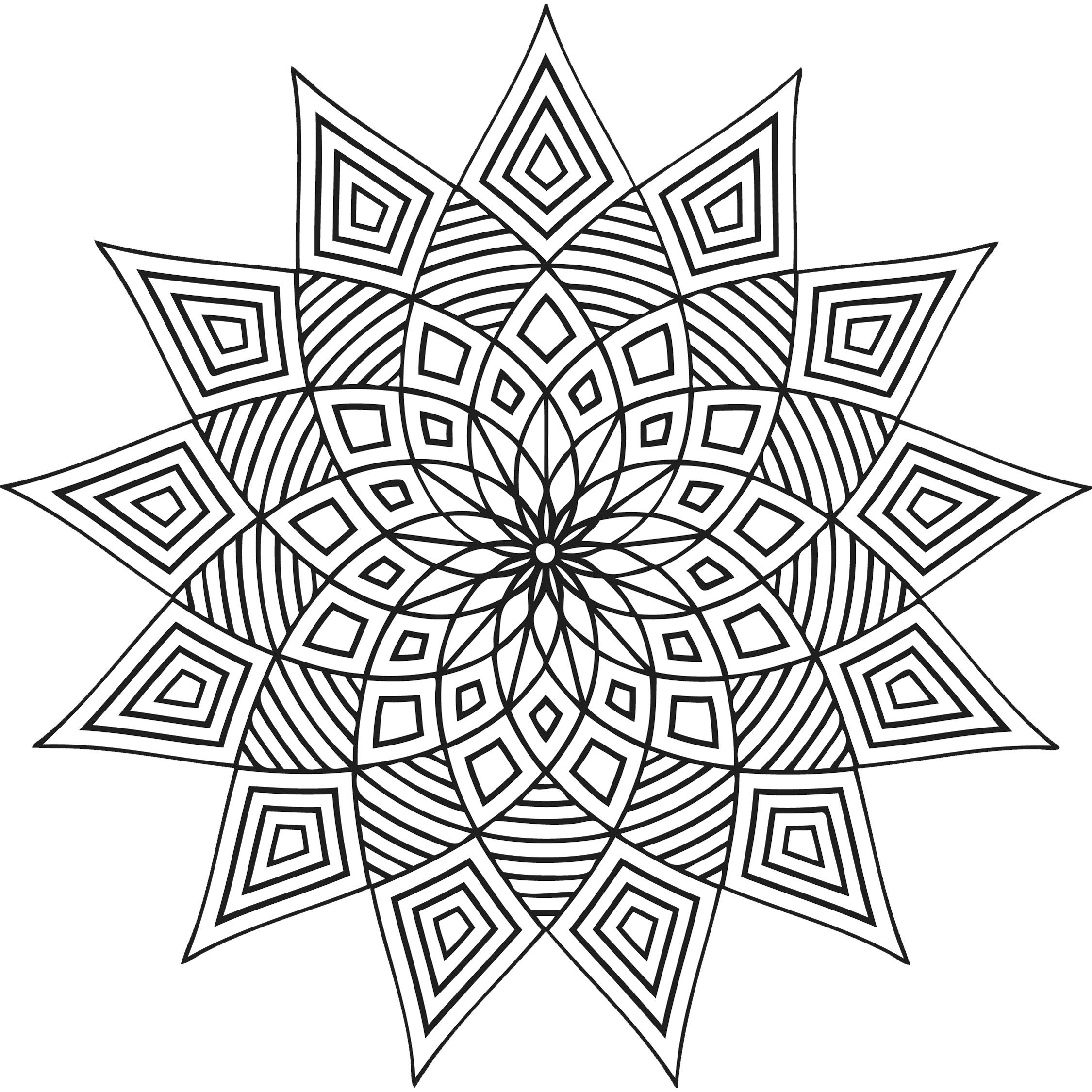 Free Printable Geometric Coloring Pages For Kids | coloring_pages ...