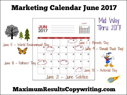 Looking Ahead  Marketing Calendar June   Http