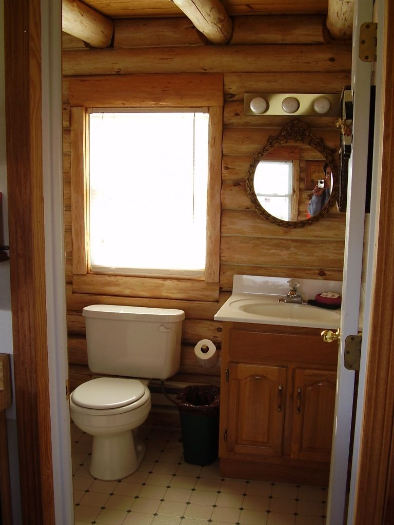 image result for log cabin small bathroom ideas - Bathroom Ideas Log Homes
