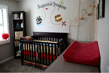 pirate theme wall art Baby room themes, Pirate baby