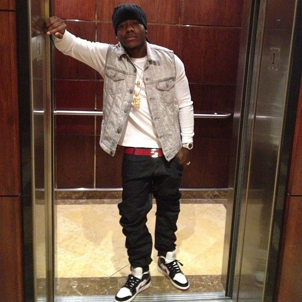 24c1a32f3c93bb Ace Hood wearing the white