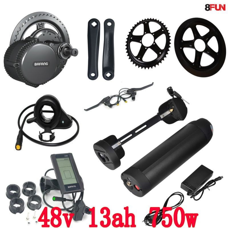 BBS02 Bafang 48V 750W mid drive electric motor kit with