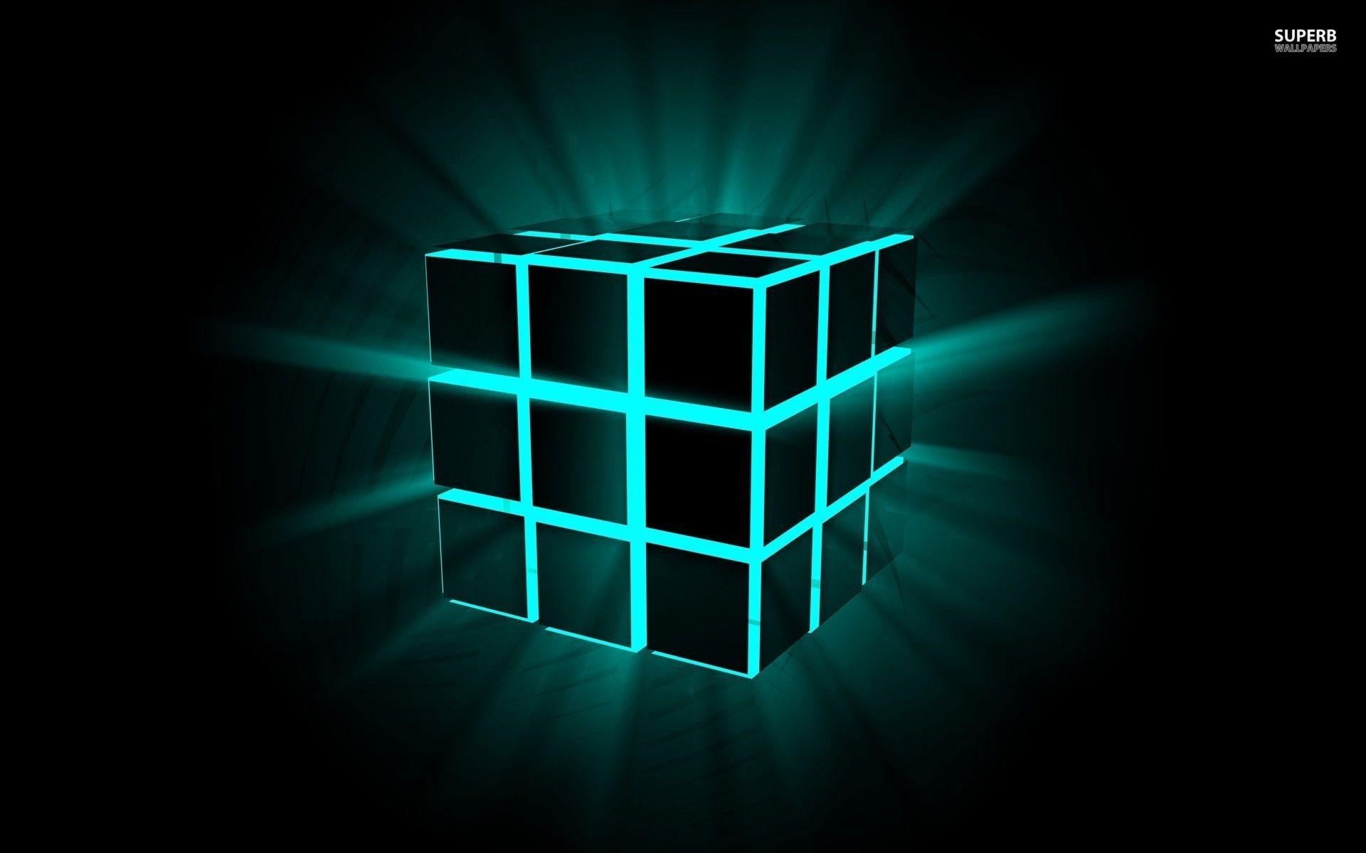 Neon Cube Wallpaper