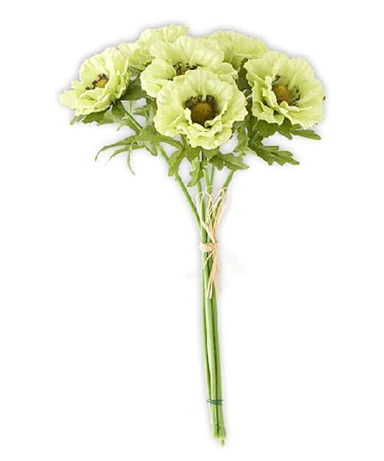 13.5'' Green Anemone Stem - Set of Six