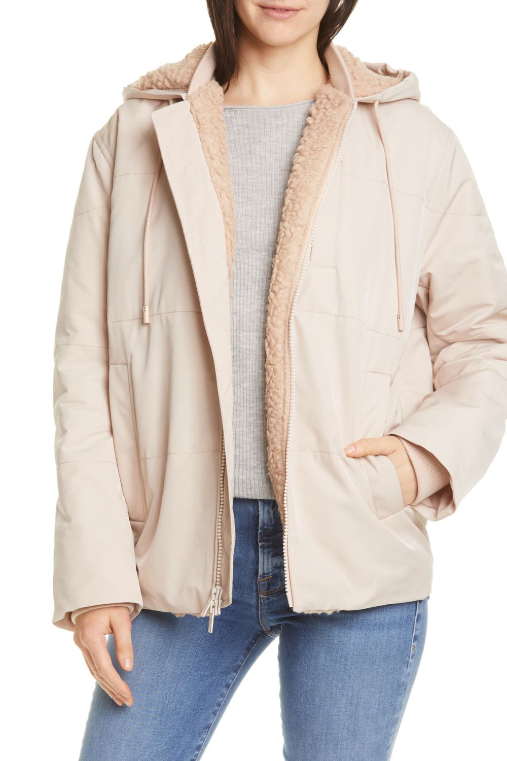 Vince Quilted Faux Shearling Lined Puffer Jacket Nordstrom Rack Quilted Puffer Jacket Hooded Jacket Fashion Hooded Jacket [ 1500 x 1000 Pixel ]