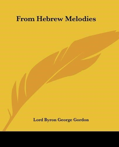 From Hebrew Melodies