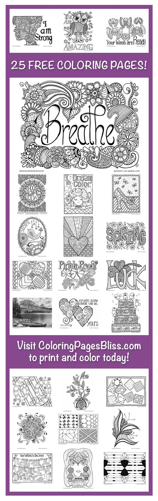Free Coloring Pages Stress Relief Hand Drawn And Pdf
