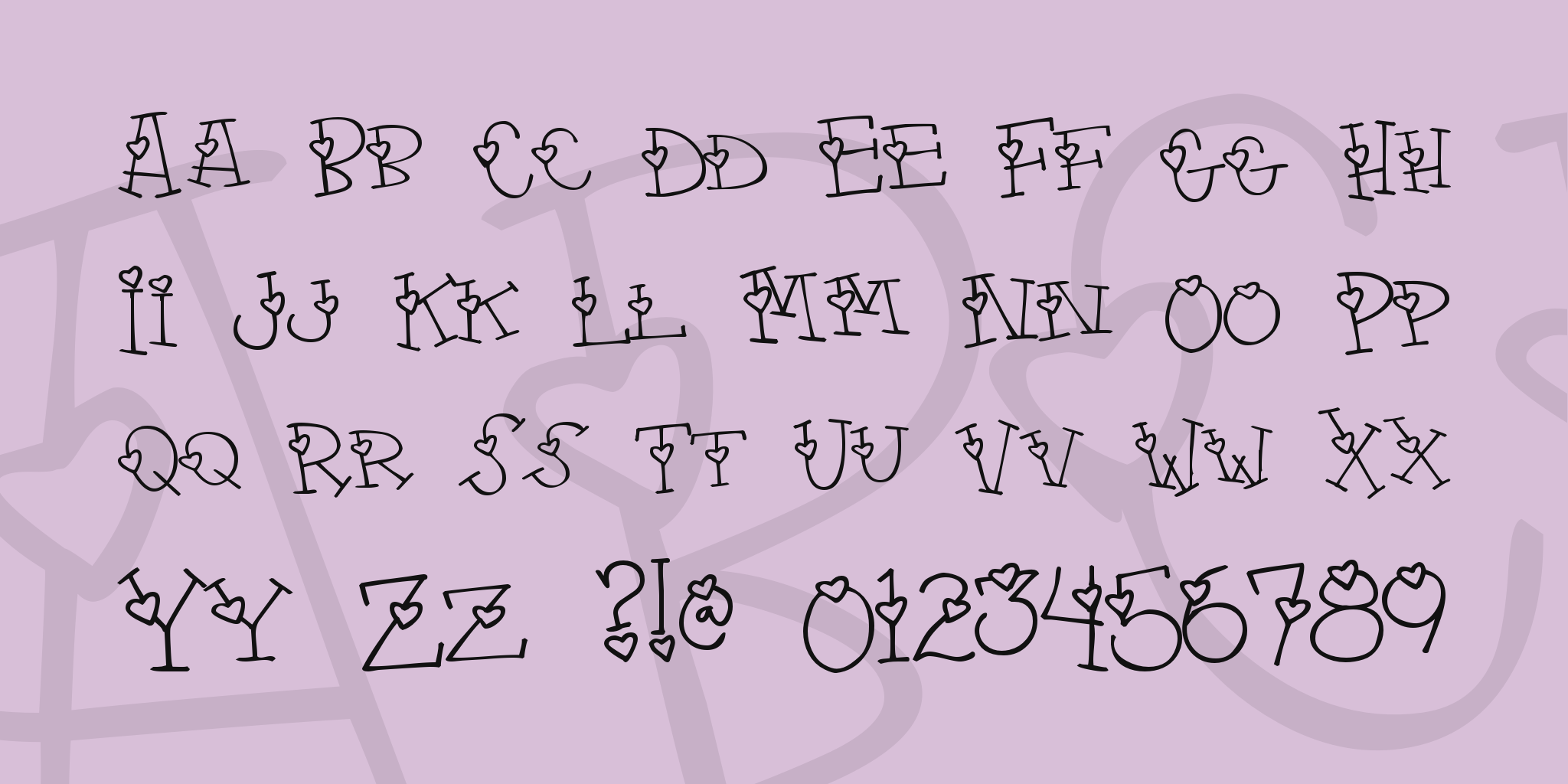 4 My Lover Font Fonts In