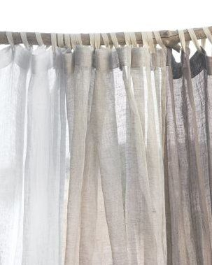 Steal Of The Day Eileen Fisher Sheer Linen Shower Curtain