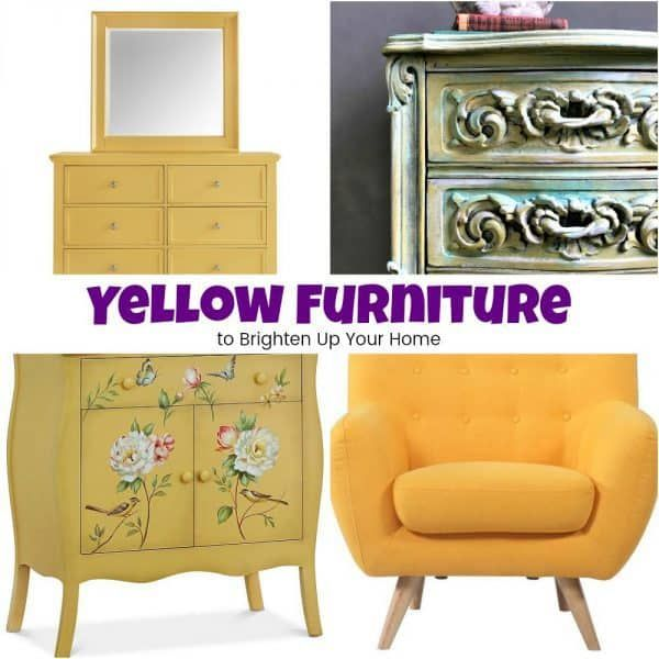 Gorgeous Yellow Furniture to Brighten Up Your Home is part of Yellow Home Accessories Paint - Yellow furniture can brighten an entire room  Find yellow painted furniture ideas or yellow bedroom furniture ideas  A yellow chair can set a room apart