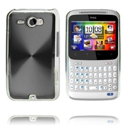 Alumiini Suojus (Musta) HTC ChaCha Suojakuori