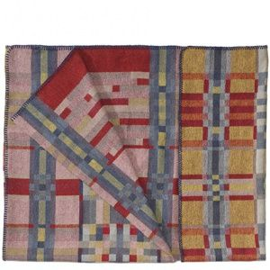 Wolldecke Rot Orange Musterhafte Decken Aus Wolle Von Studio Roderick Vos Plaid Plaid Design Blanket