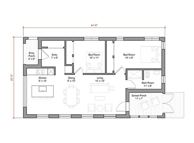 12 Main Level Plan Jpg 632 464 Modern House Plans Building A Small House House Floor Plans