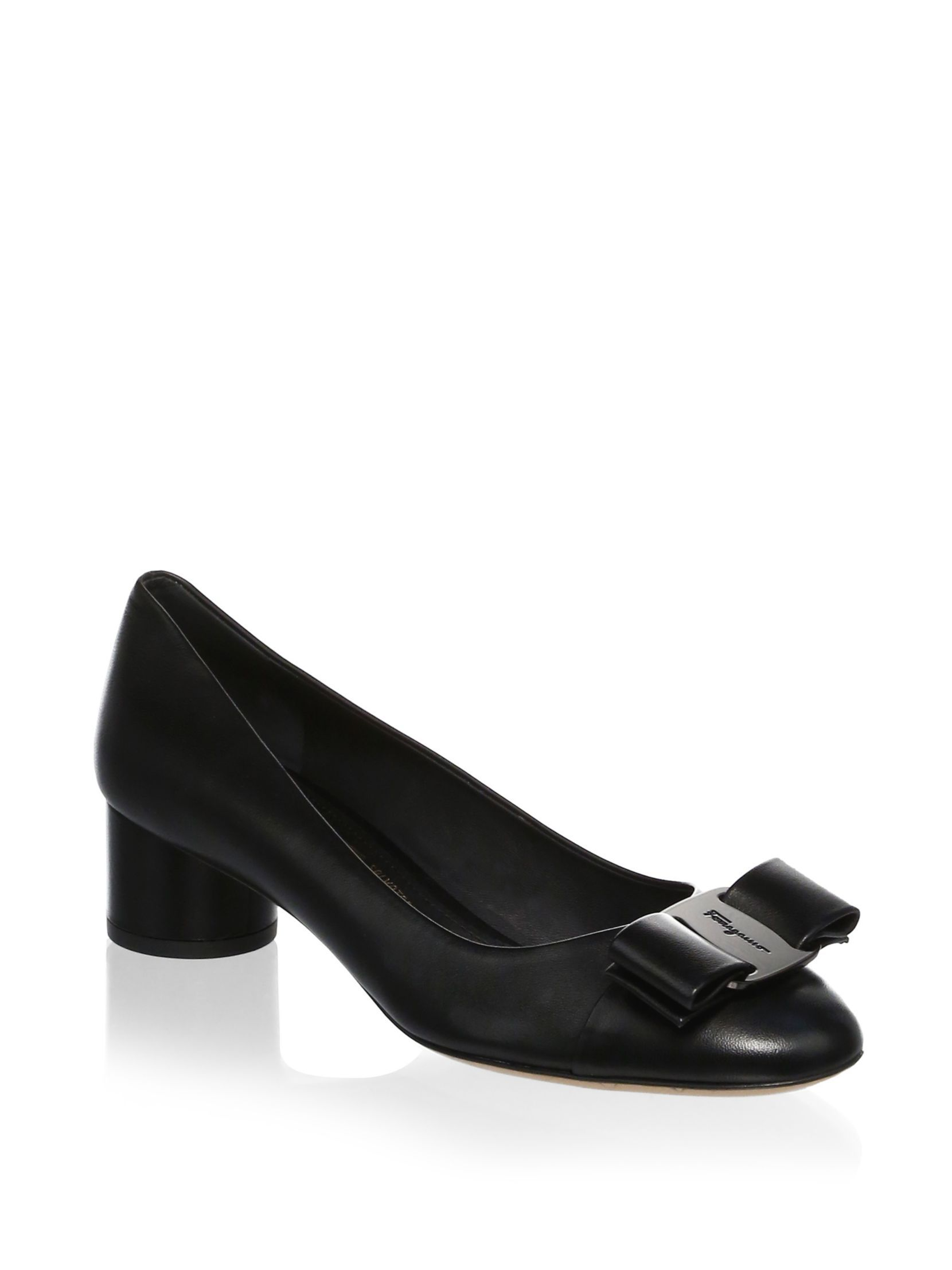 Salvatore Ferragamo Slip-On Leather Pumps G5Gv3waSm