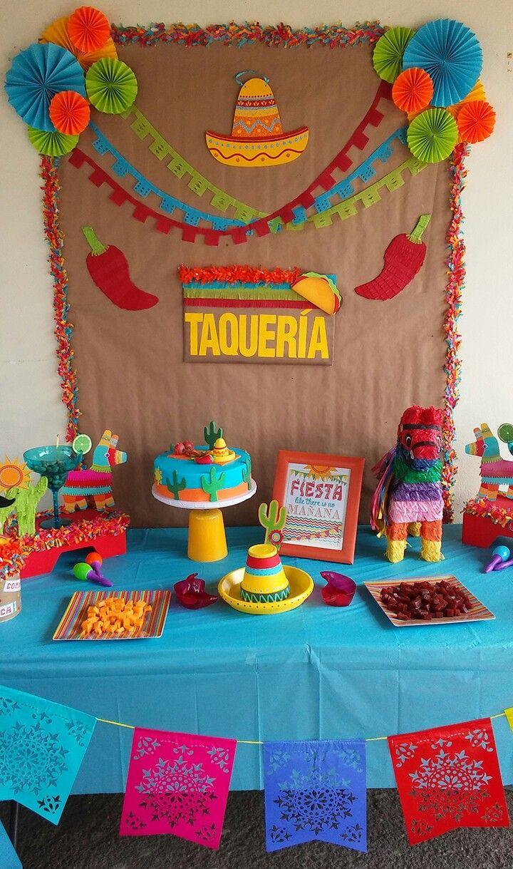 Fiesta Birthday Decoration Idea Fiestas De Cumpleanos Mexicanas
