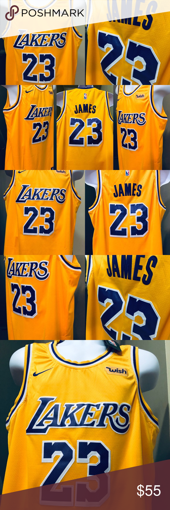 23525a322 Los Angeles Lakers LeBron James 23 Swingman Jersey Los Angeles LA Lakers • LeBron  James  23 Nike Gold 2018 19 Swingman Jersey Adult Men s Size   Large (50)  ...