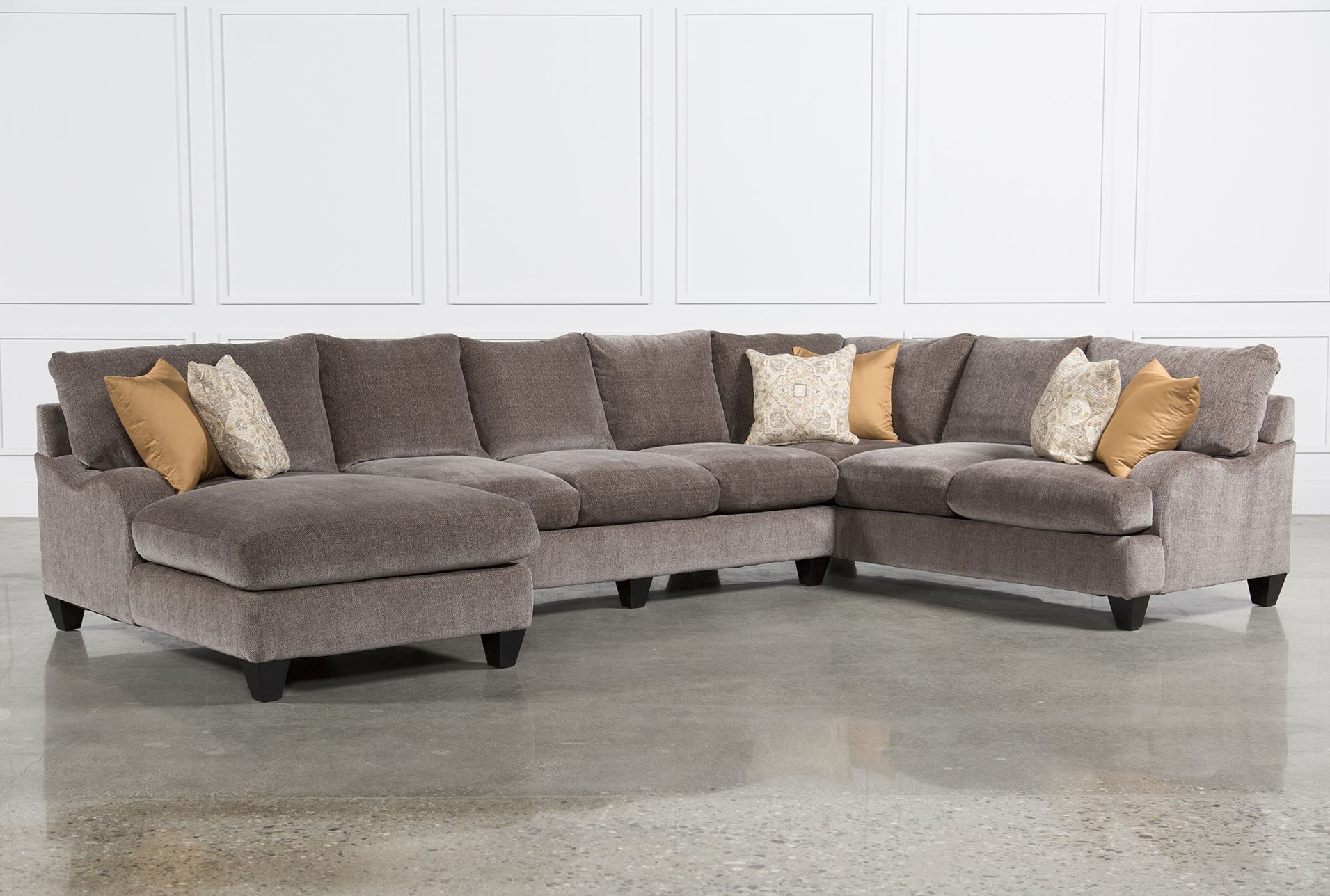 Pryce 3 Piece Sectional W/Laf Chaise - Living Spaces   New Home ...