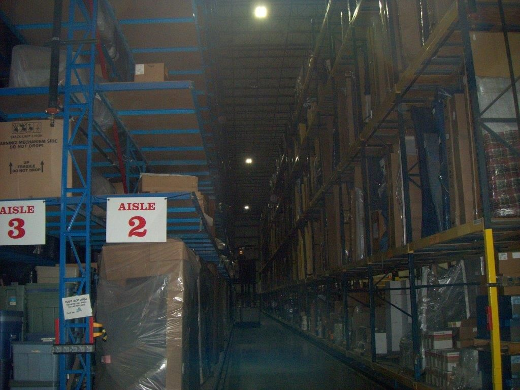 The Aisles Of The Levin Furniture Warehouse Are Equipped With Motion Sensor  Lights. The Lights