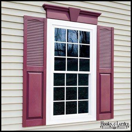 6 Flat Panel Decorative Window Header Shutters Exterior House Shutters Window Shutters Exterior