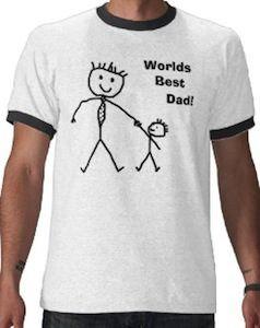 78c35003 Worlds Best Dad Stick Figure T-Shirt | Josh | Worlds best dad ...