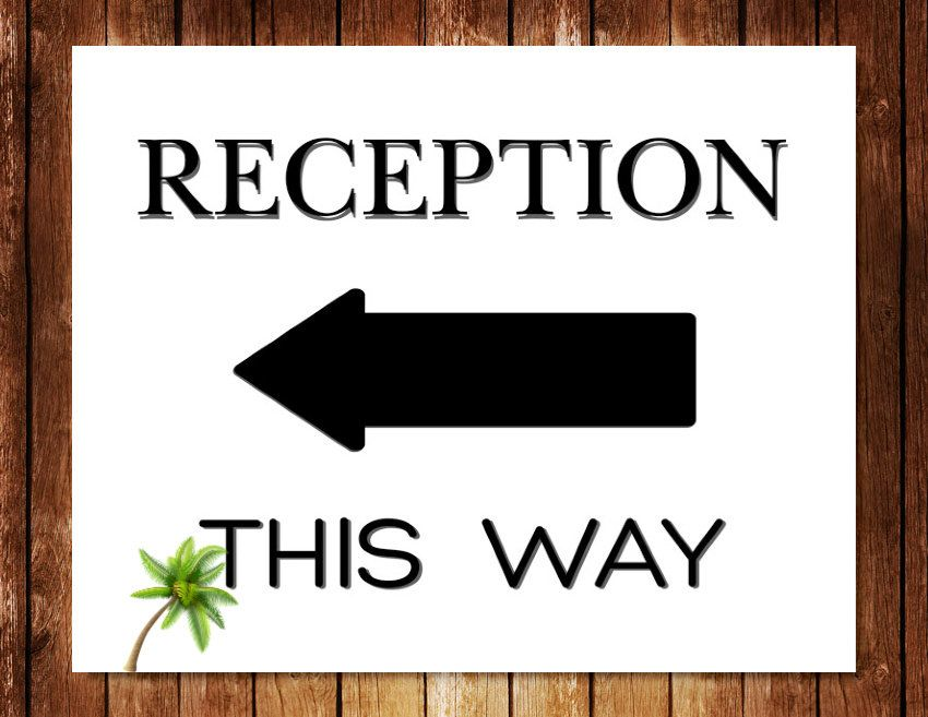 Reception This Way Left Right Arrow Signs Wedding Signs Direction Signs 8x10 Reception Decor A Wedding Reception Signs Directional Signs Reception Signs