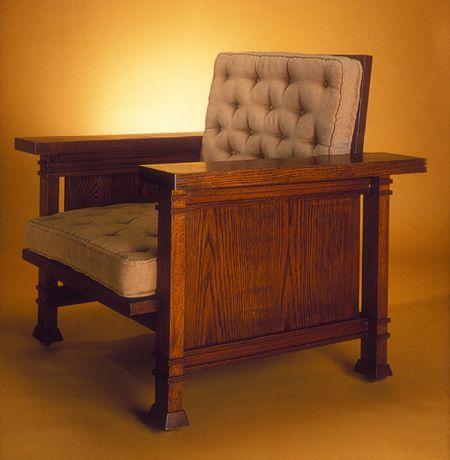 Armchair Frank Lloyd Wright Furniture Craftsman Furniture