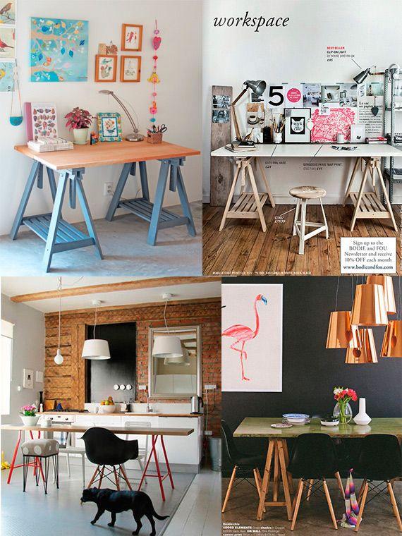 Como fazer uma mesa de porta super barata  pinturas  Muebles Mesas e Escritorios