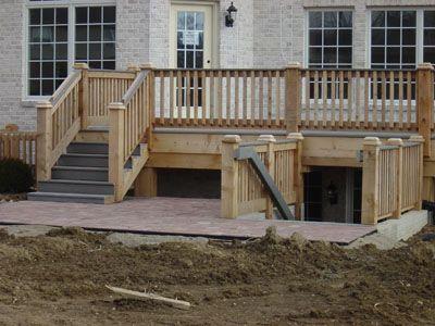 Basement Deck Entrance Basement Entrance Outside Stairs Building A Porch