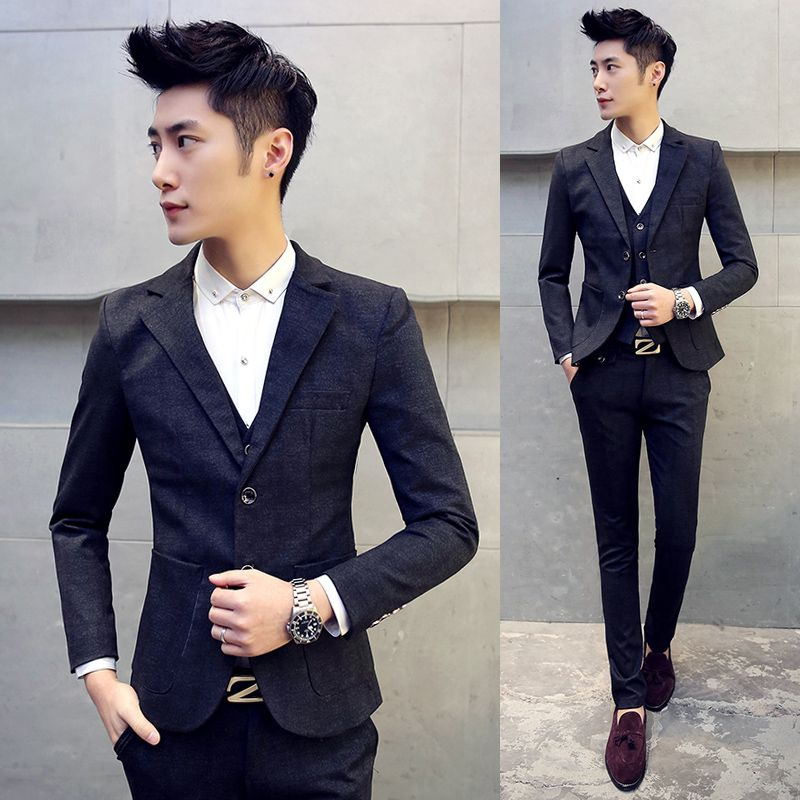 High Quality Mens Large Size 5XL Slim Suits Teen Wedding Dress Formal Wear Clothes Male Business