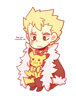 Little Laxus with a cute little Pikachu | Dragon Slayers (FT