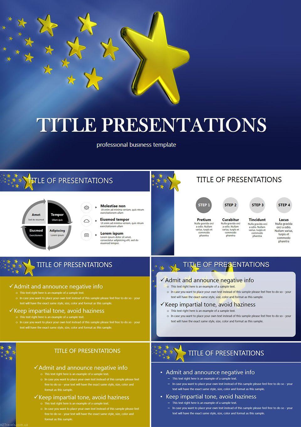 eu stars powerpoint template powerpoint templates pinterest