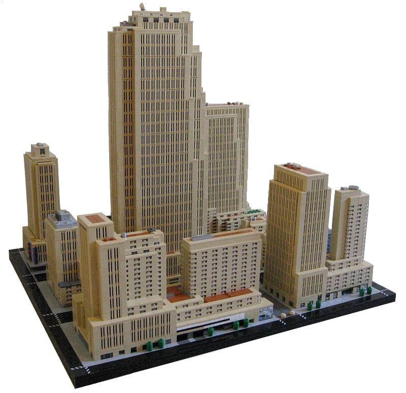 Rockefeller Center, New York Lego creations, New york