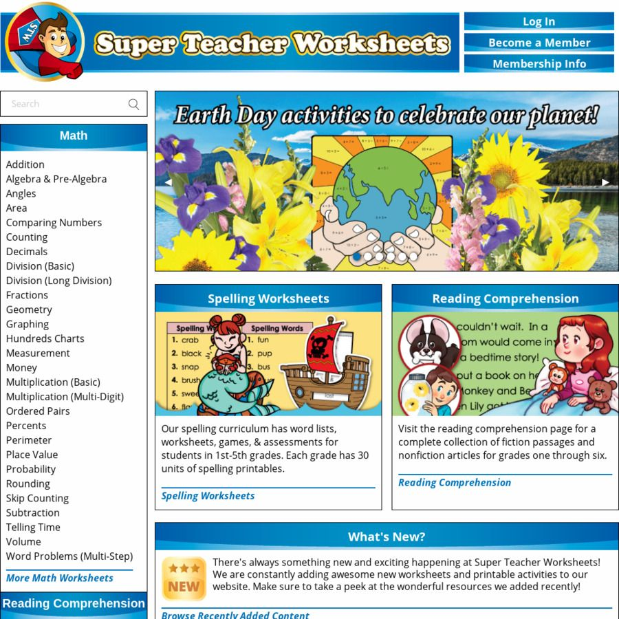 10 000 Free Printable Maths Science Reading Writing Other Resources For Pre Kindy Year 5 Su Super Teacher Worksheets Super Teacher Teacher Worksheets
