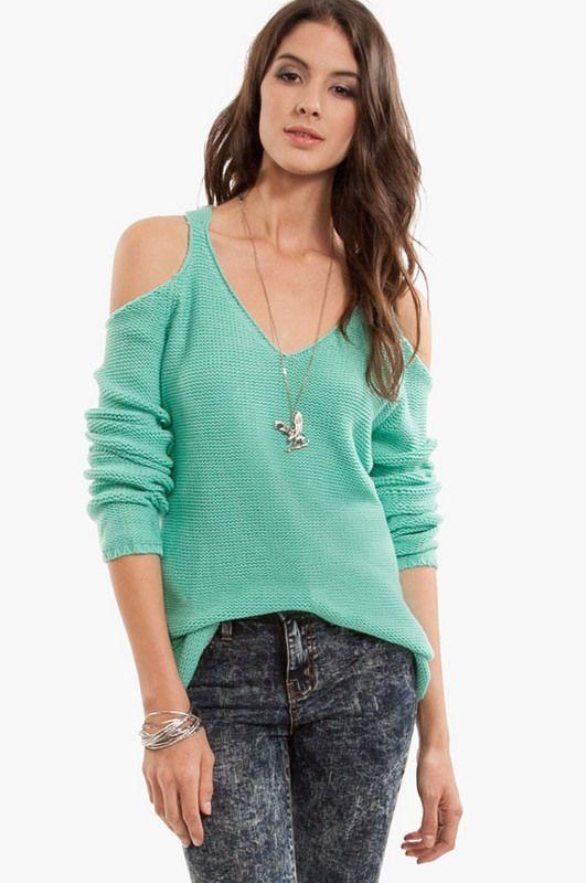 Shoulderless sweater Cowl Neck 039ca71c6