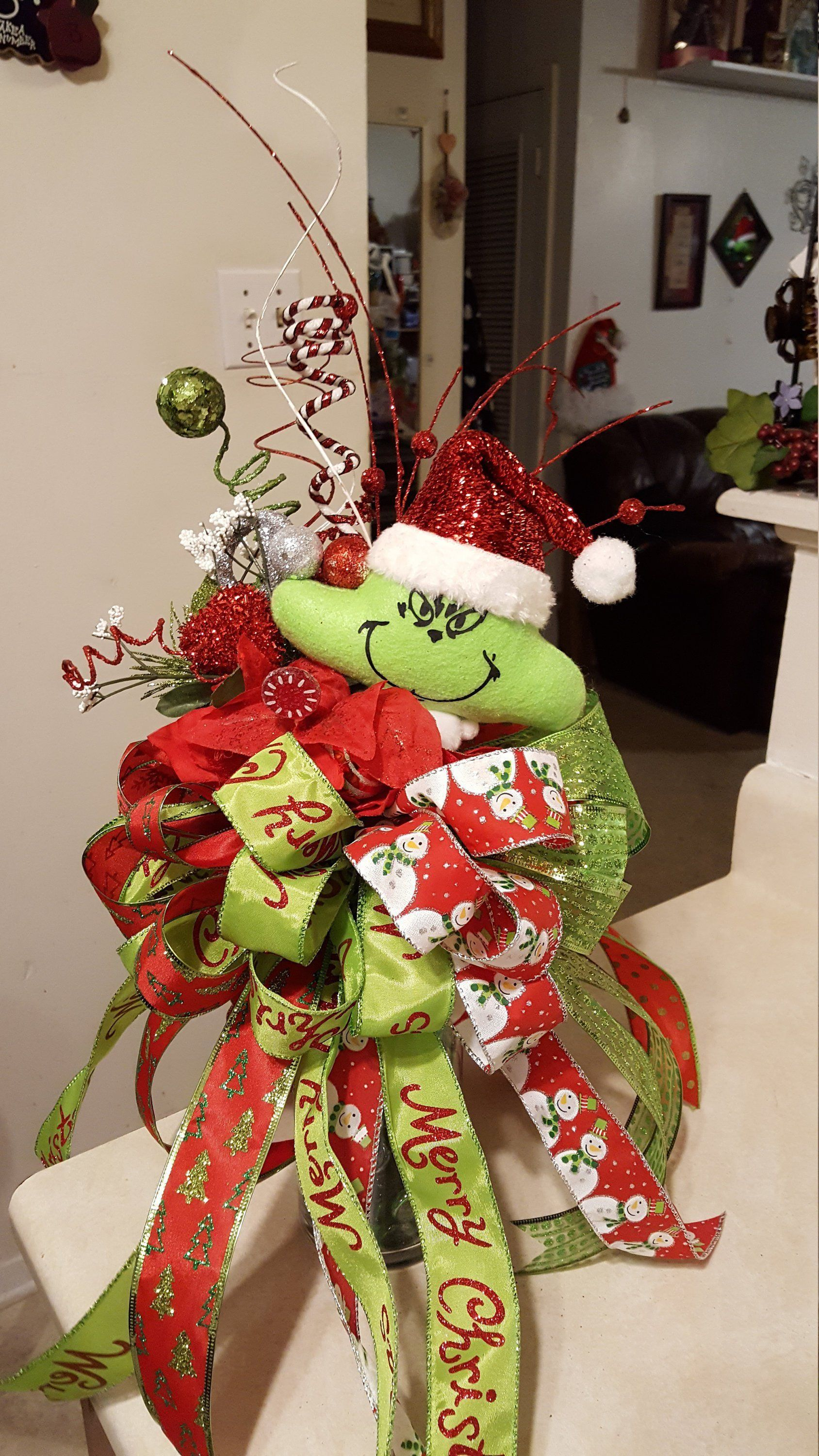 Grinch Tree Topper, Christmas Tree Topper Christmas tree