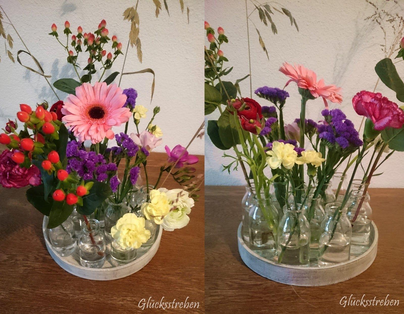 Glücksstreben Einfache Blumendekoration easy way to decorate