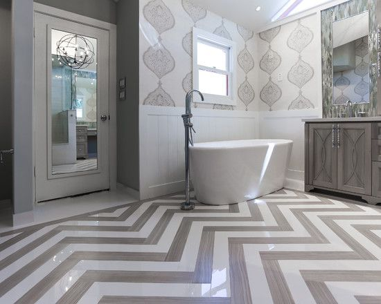 Architecture, Transitional Bathroom Design With Interior Design Houston  Style Also Grey And White Marble Floor