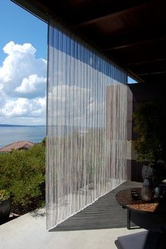 Outdoor Stainless Steel Curtain For Shading West Facing Terrace