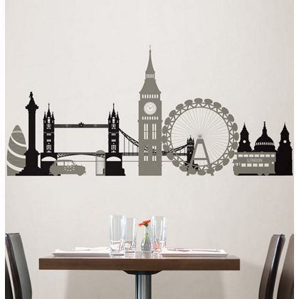 fine decor london calling wallpops wall stickers at homebase -- be