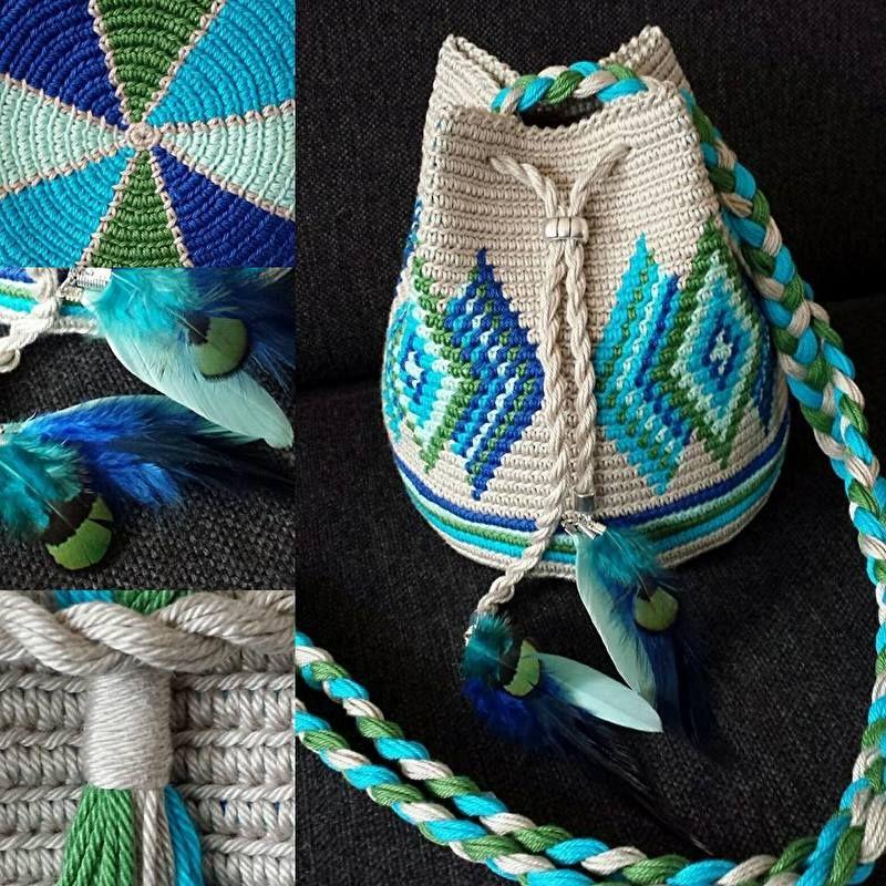 mini indiana aqua groen mochila bags kralentik h keln rucksack beutel h keln und. Black Bedroom Furniture Sets. Home Design Ideas