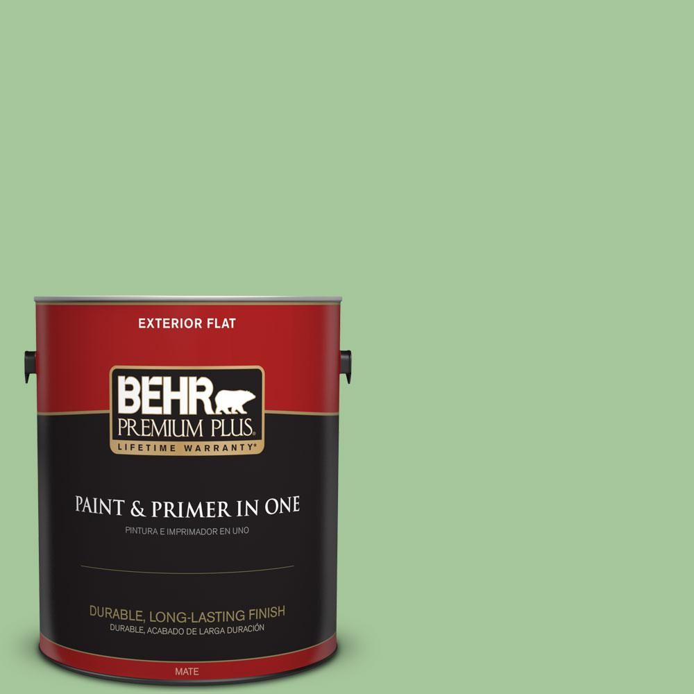 BEHR Premium Plus 1-gal. #M390-4 Gingko Flat Exterior Paint