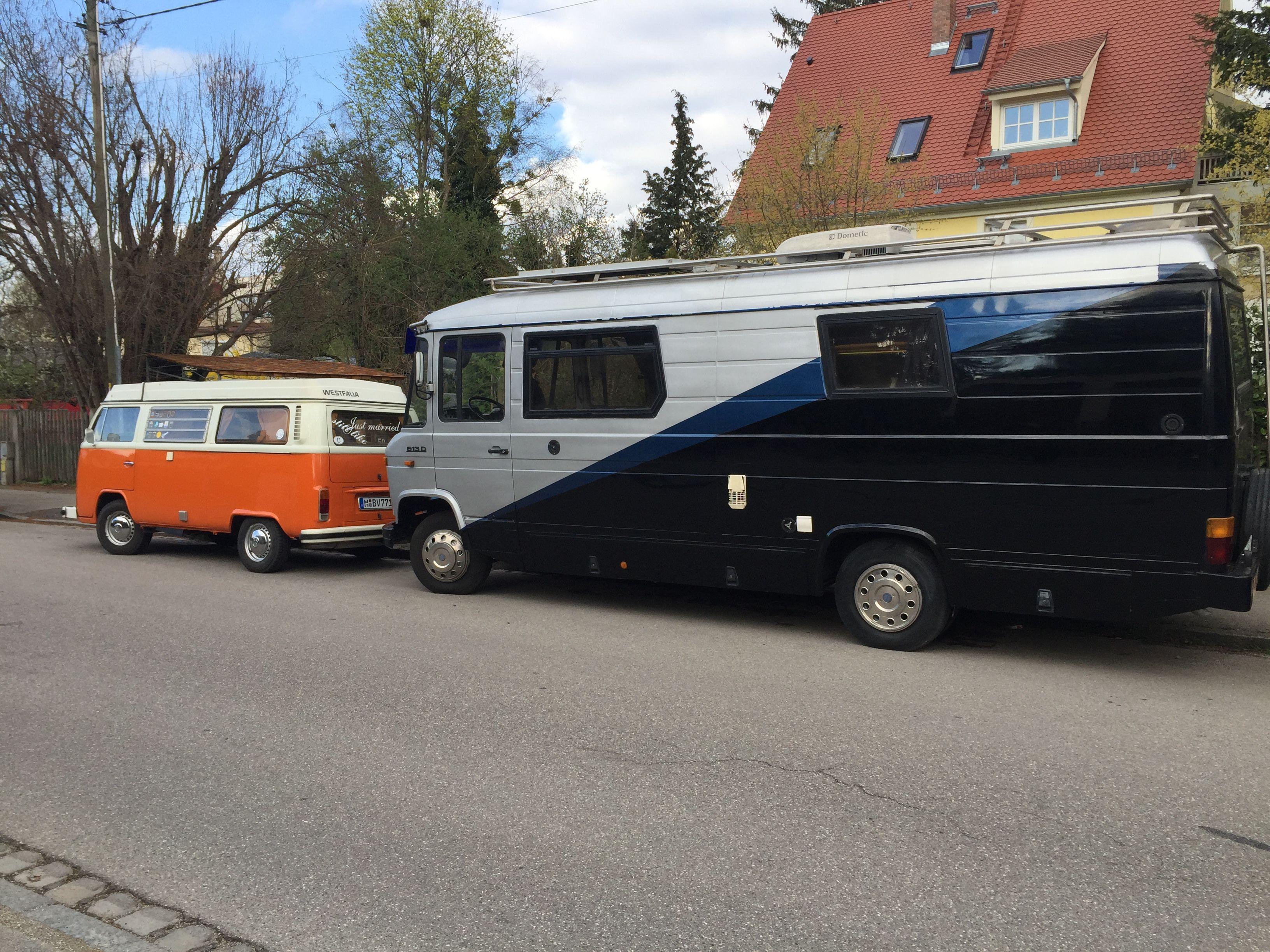 Mercedes T10 Düdo vs. VW T10 Bulli  Oldtimer, Campingbus, Fahrzeuge