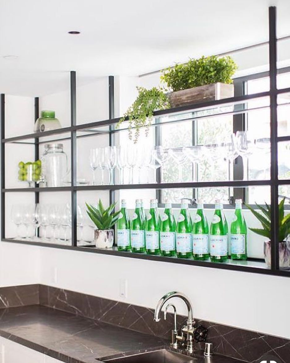 Steel Bar Shelves Glass Bar Shelves Black Metal Shelf Metal Shelves