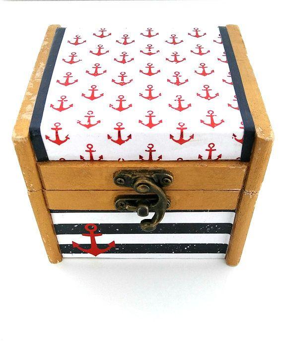 Nautical Jewelry Box Jewelry Box Nautical Trinket Box Jewelry