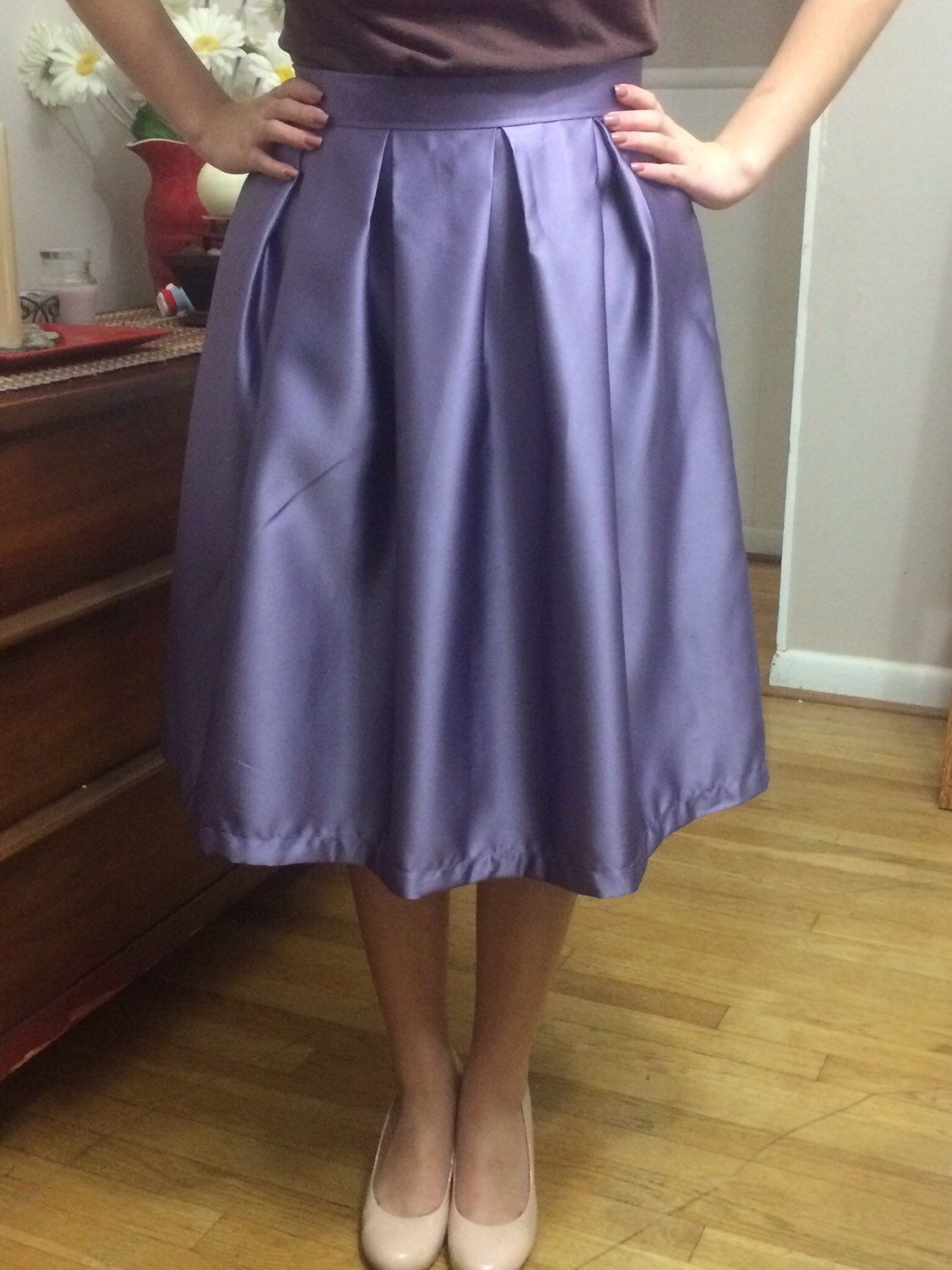 A personal favorite from my Etsy shop https://www.etsy.com/listing/258164243/pleated-skirt