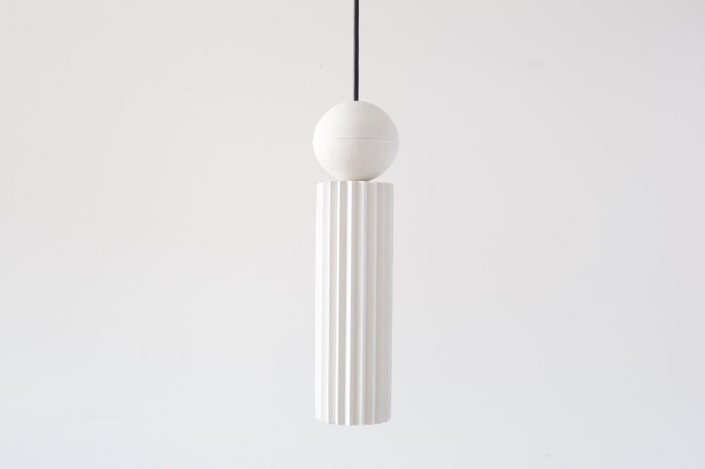 Pendant Light From Plaster Cylinder Pendant Light Chandelier